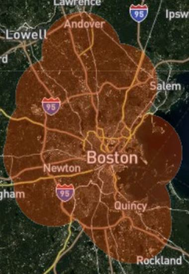 Boston Wireless Internet Coverage Map